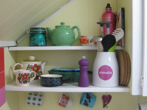 open & colourful shelves